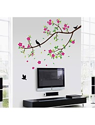 Wall Stickers Wall Decals, Style Birds' And Fragrance Of Flowers PVC Wall Stickers