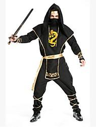 Male Black Gold Dragen Ninjia with Mask