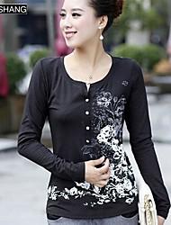 bs®women Die langärmlige Pullover Baumwolldruck-T-Shirt
