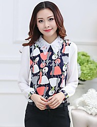 ICED™ Women's Doll Collar Nail Bead Fashion Slim Shirts