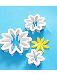 FOUR-C Fondant Cake Cutter,Cake Decorating Plastic Cutter,Cake Fondant Decoration,Cake Tools