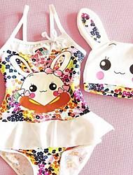 Girl's Cute Rabbit Swimsuit