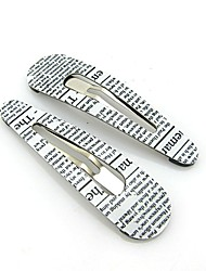 NEW Style Hot Sale Fashion Charming Loveliness Normal Size Newspaper Pattern Barrettes Hairpins For Girl