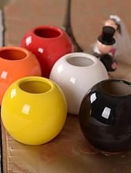 """3.9""""L Simple Ball Ceramics Vase"""