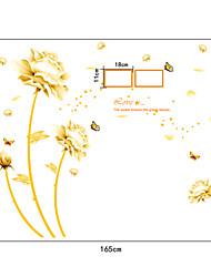fleurs de richesse pvc stickers muraux de style chinois