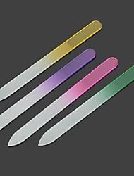 Crystal Float Glass Nail File Set (Mixed Color) (4 PCS)