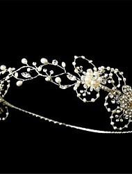 Hand-made Gorgeous Silver Freshwater Pearl Circlet Bridal Headband Tiara Flower Bridal Wedding Crown