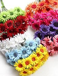 100pcs Artificial Daisy For Scrapbooking DIY Craft Decoration Sunflowers Bridal Bouquets Accessories (More Colors)