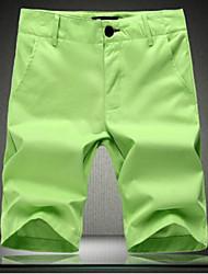 Shorts ( Blau/Grün/Weiss , Baumwolle ) - für Freizeit - für MEN - Reine