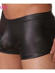 Men Underwear Boxers Male Vintage Sexy Faux Leather Underpants S M L New Hot free shipping