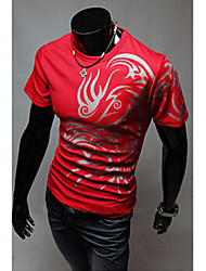 Super Hot Men's Casual Round Short Sleeve T-Shirts