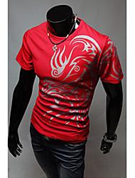 Informeel Rond - MEN - T-shirts ( Katoenmengeling )met Korte Mouw