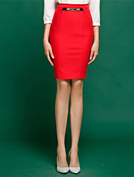 Women's High Waist Solid Color OL Skirts(More Colors)