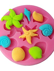FOUR-C Silicone Mould Cupcake Top Mold Cake Design Supplies Color Pink