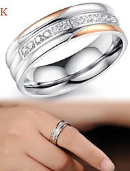 OPK®Elegant Ms 18 K Rose Gold Plated Diamond Ring