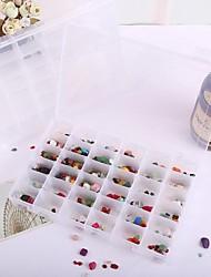 36-Grids Plastic Transparent Jewelry Storage Boxes