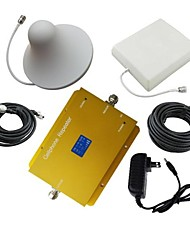 LCD Display Dual Band GSM/DCS980 Cellphone Signal Repeater with Panel and Ceiling Antenna Kit New