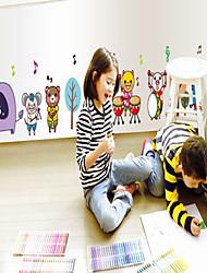 parede adesivos de parede decalques, estilo encantador pvc animais adesivos de parede