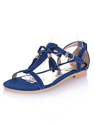 Zapatos de mujer - Tacón Plano - Comfort - Sandalias - Oficina y Trabajo / Vestido - Semicuero - Negro / Azul / Rosa / Rojo / Beige