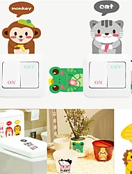 Wall Stickers Wall Decals, Style Super Adorable Animal PVC Wall Stickers