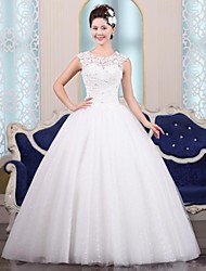 Ball Gown Floor-length Wedding Dress -Jewel Tulle