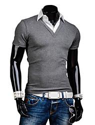 Informeel ShirtKraag - MEN - T-shirts ( Katoenmengeling )met Korte Mouw