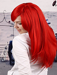 Europe and America  in the New  Bright Red Hair Wig Natural Bent