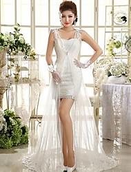 A-line Asymmetrical Wedding Dress -Sweetheart Lace