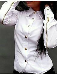 SIMEIWomen's Casual/Work Long Sleeve Casual Shirts (Chiffon)