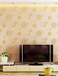 Современный обои цветочный импорт Германия мускус 3d букеты желтого цвета покрытия для стен нетканого искусство обоев