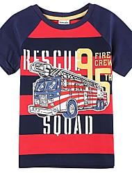 Children's Boy T shirt Kids Boys Clothes Stripes Summer T shirts Boys Tees(Random Printed)