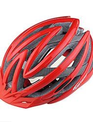 Capacete (Vermelho/Preto/Azul , PC/EPS) - Montanha/Estrada - Unisexo 22 AberturasCiclismo/Ciclismo de Montanha/Ciclismo de Estrada/Ciclismo de