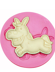 Animal Shape Donkey Silicone Mould Cake Decorating Silicone Mold For Fondant Candy Crafts Jewelry PMC Resin Clay