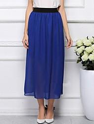 Women's European and American Sexy Elastic Waist Chiffon Skirts