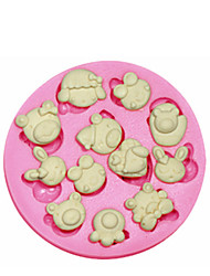 Cute Cartoon Animals Silicone Mould Cake Decorating Silicone Mold For Fondant Candy Crafts Jewelry PMC Resin Clay