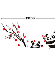 Lovely Chinese Style Panda PVC Wall Stickers
