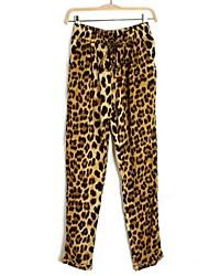 Frauenleopardkorn lose dünne Freizeithosen
