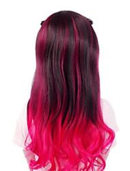 Zipper Vivid Girl Rose Red Two Ponytails Punk Lolita Wig