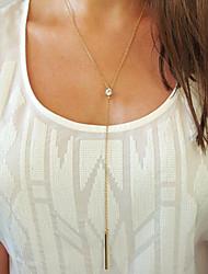 collier pendentif exquise européenne en alliage de style diamant y (d'or) (1 pc)