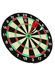 Winmax® Indoor Game 17 Inch Paper Dartboard with Six Iron Darts
