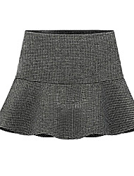 Women's Houndstooth High Waist Tweed Skirts