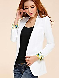 Women's Fashion Contrast Color Lapel Silm Blazer