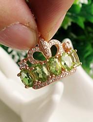 925 de prata banhado em ouro rosa peridoto naturais pedras preciosas pingente