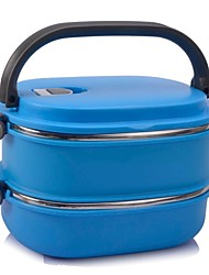 1 Kitchen Stainless Steel Plastic Lunch Box