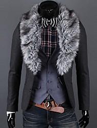 collare di lana staccabile classici sottili degli uomini giacca sportiva casuale