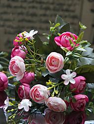 """12 """"l süße Tee stieg Seidentuch Blumen Champagner-fuchsia"""