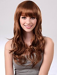 Curly Hair Neat Bang Wig