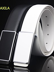 The new man made leather leisure belt fashion plate buckle belt buckle DXL-898 smoothing