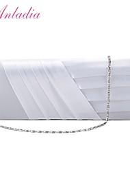 Anladia Ladies Simple Satin Pleated Evening Bag Party Purse Bridal Clutch Handbag