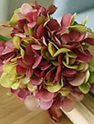 """22"""" Pink Green Hyfrangeas Artifical Flowers"""